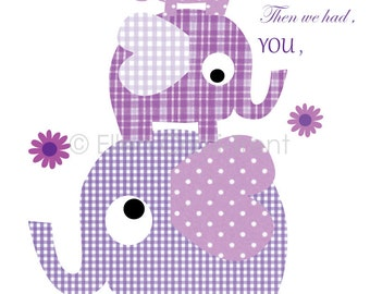 Kids Wall Decor-First we had each other print-- purple