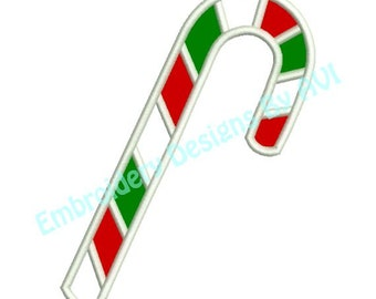 Applique Candy Cane Christmas Machine Embroidery Designs 4x4 & 5x7 Instant Download Sale