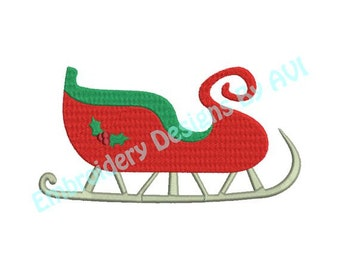 Christmas Sleigh Machine Embroidery Designs 4x4 & 5x7 Instant Download Sale