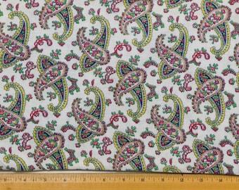 Vintage white background Paisley Print Flour Sack, Feed Sack