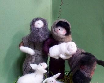 "Nativity Felted Wool 6 Piece 7""x4"""