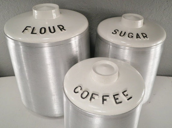 kitchen canisters flour sugar vintage kitchen canister set flour sugar coffee silver by 19297