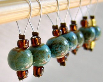 Oxygen and Hydrogen - Seven Snag Free Stitch Markers - Fits Up To 5.5 mm (9 US) - Limited Edition