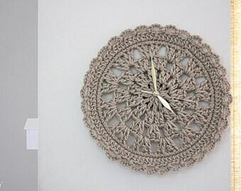 Crochet clock PDF Pattern wall clock for home decor clock Crochet Pattern  Instant Download