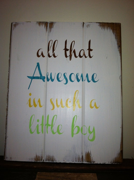 Baby Boy Bedroom Gifts: All That Awesome In Such A Little Boy 13x10 1/2 By