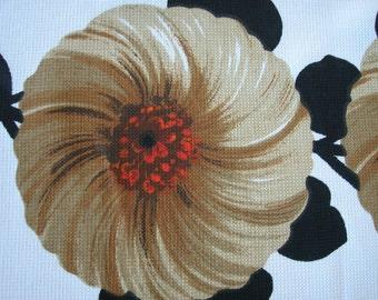 FABRIC original 70s / retro vintage FLOWER pattern / NoS new old stock / hippie flower power textile / tissu annees 1970 / collectors item