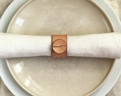 Leather Napkin Rings (4) for casual dining - hostess gift - wedding table decor - informal table setting - wholesale boutique