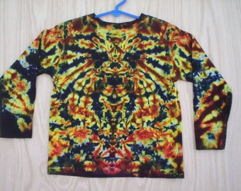 Childrens-Fall Colors Youth Long Sleeve Tie Dye