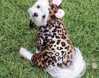 Dog Costume for Halloween, leopard