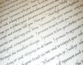 Text Block Ketubah - simple style - English only - Italic calligraphy