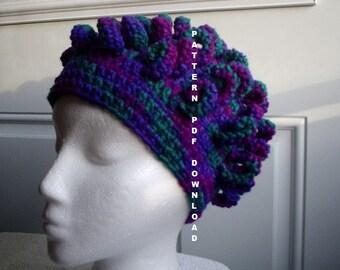 Chemo PATTERN Curl Hat Pattern Crochet, PDF, Free shipping