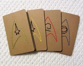 Star Trek TOS: Enterprise Crew Embroidered Moleskine Notebook Pack