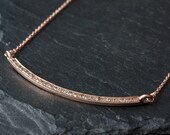 """Pavé Diamond Ellipse Necklace-rose gold- As seen in """"Lucky"""" Magazine"""