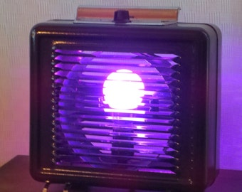 Color-changing LED light made from vintage heater