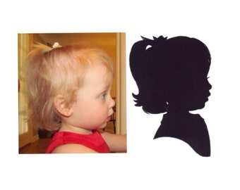 Medium 8 x 10 inch Hand Cut Silhouette Portrait