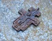 Christianity  Saint Francis of Assisi San Damiano cross Crucifix  made in solid Bronze