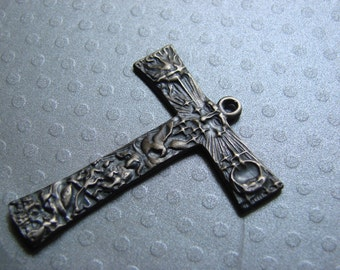 Tau cross of St Francis Cross solid sterling silver