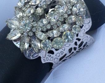 Spectacular Rhinestone Cuff Bracelet