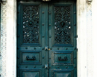 Door 14 - Hunter Green Doorway - paris photography - paris decor - paris print - Door in Paris, France - green wall art - paris print