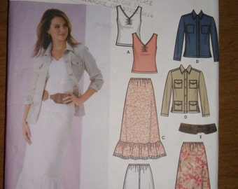 Simplicity Pattern 5593 - Out of Print Simplicity Maxi Skirt, Top, Jacket and Belt Sewing. Size 6, 8, 10, 12