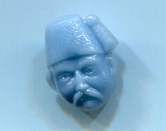 Blue Turkish Hat Realistic Button Head from the Good Neighbors Set late 40's to early 1950's