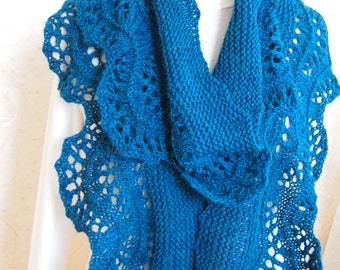 Instant Download pdf Hand Knitting Pattern - Pinwheel Scarf