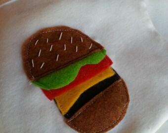 Cheeseburger onesie