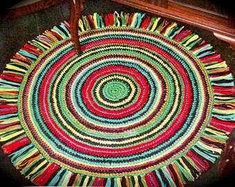 INSTANT DOWNLOAD-Vintage crochet pattern for easy make rug-pdf email delivery