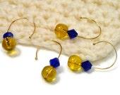 Lemon, Blueberry, Removable Stitch Markers Set, Crochet, Snag Free, Beaded, DIY Crochet, Gift, TJBdesigns