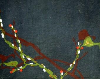 Antique Taisho-Showa Period Japanese Silkscreen Kimono Design - 29