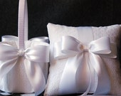 White Lace Pillow and Basket Set - Katherine