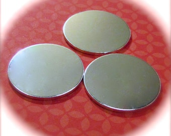 15 Polished 1-1/4 Inch Discs 14 Gauge NO HOLES Heavy Weight Pure Food Safe Metal - 15 Discs