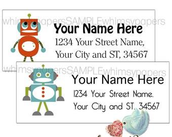 Robot Return Address Labels - Glossy