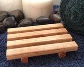 2 Wood Soap Dishes - LOWEST PRICE on Etsy for comparable products - Natural Hardwood Soap Dishes