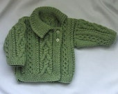 Deirdre Asymmetrical Cardigan for babies/toddlers, PDF knitting pattern
