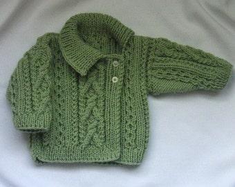 Deirdre Asymmetrical Cardigan for babies/toddlers, PDF knitting pattern