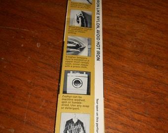 """22"""" Vintage white  Nylon Coil Zipper by Talon - Style 110-1"""