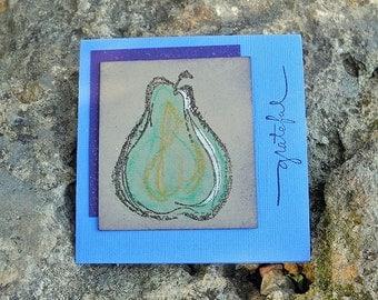 Grateful Pear Gift Enclosure Card - Cool Blues