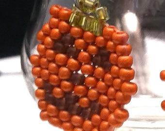 Halloween Pumpkin Jack O Lantern Earrings