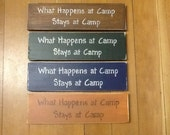 Country wood sign - What happens at camp stays at camp - camp decor - lake decor
