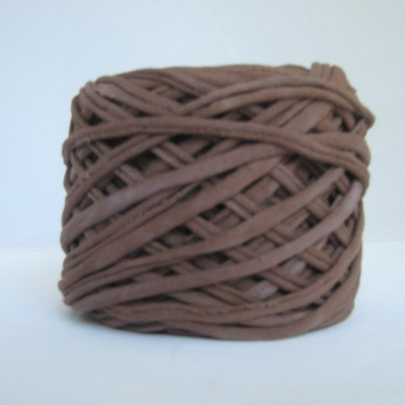 T shirt yarn hand dyed dark brown 60 yards from for T shirt printing st charles mo