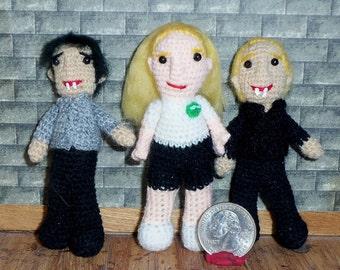 True Blood Dolls Sookie Stackhouse , Bill Compton and Eric Northman 3 inch