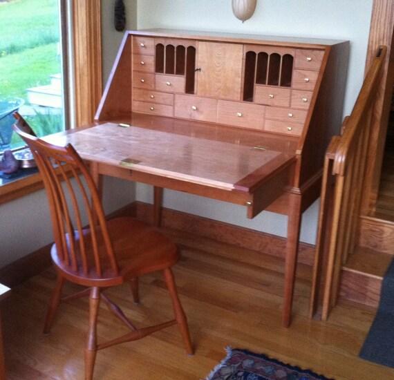 Shaker cherry slant top desk