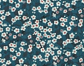 Liberty Fabric Tana Lawn Cotton Mitsi Navy Blue Half Yard