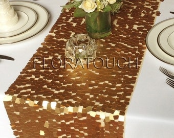 Gold Sequin Table Runner Dazzle Square Sequin Wedding Table Runner