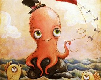 Gentleman Octopus -- Art print