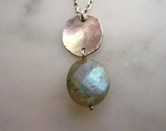 Jewelry Gift Guide, Repurposed Silver, Gift Ideas for Her, Cool Necklace, Labradorite Necklace, Handmade Jewelry Sterling Silver, Gemstone