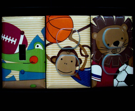 Animals Light Switch Cover / Outlet Covers / Team Safari Lambs