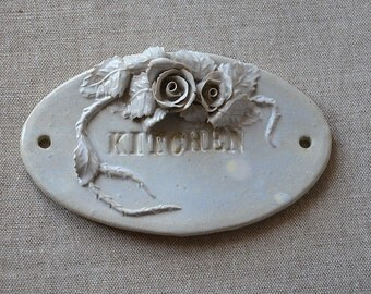 Kitchen Rating Plate - MADE TO ORDER - Stoneware plate - plaque