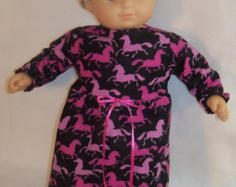SALE/ 15 inch Doll Pink Horses Nightgown